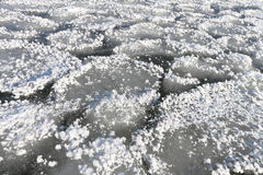 Natural background from ice and snow on the river Royalty Free Stock Image