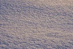 Natural background - ice surface of snow illuminated by the rays of the evening sun. Stock Image