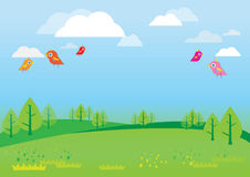 Natural background for kids Vector royalty free illustration