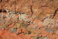 Natural background of layers of soil Royalty Free Stock Photo