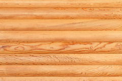 Natural background from log wall. Stock Photos