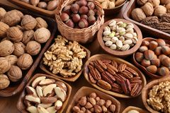 Mix of nuts stock images