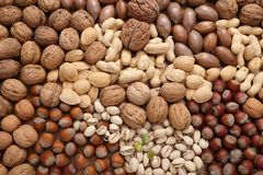 Mix of nuts. Royalty Free Stock Photos