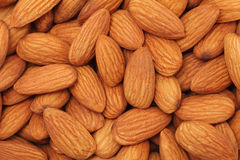 Almonds. Background Stock Photography