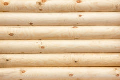 Natural background pattern of a log wall Stock Images