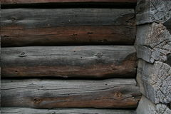 Natural background pattern of a log wall Royalty Free Stock Photo