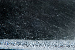 Natural background with rain snowstorm Stock Image