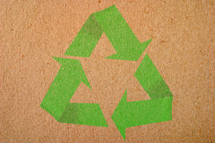 Natural background with recycle symbol Royalty Free Stock Photo
