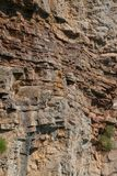 Natural background of rough stone wall royalty free stock photos