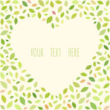 Natural background in the shape of a heart. Floral vector frame Royalty Free Stock Photography