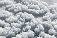 Natural background snow crystal clusters ice Royalty Free Stock Images