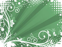 Natural  background with spiral pattern, grunge and halftone effect. Royalty Free Stock Image