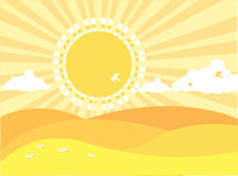 Natural background with summer landscape Royalty Free Stock Photography