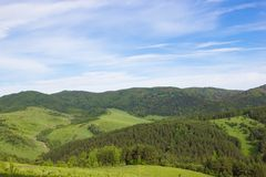 Natural background. Summer mountain landscape Stock Photos