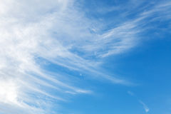 Natural background texture of bright blue sky Stock Images