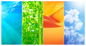 Natural backgrounds collage Royalty Free Stock Images