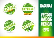 Natural Badge Logo Vector Stock Image