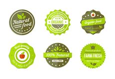 Natural badges Royalty Free Stock Photography