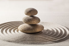 Natural balance achieved with zen pebbles Royalty Free Stock Images