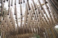 Natural bamboo hanging ornament Royalty Free Stock Photo