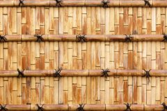 Natural bamboo wall Royalty Free Stock Photography