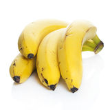 Natural bananas. Over white background Royalty Free Stock Photo