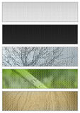 Natural banners Stock Photos