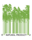 Natural bar code concept with green trees Royalty Free Stock Images
