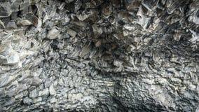 Natural basalt stone columns, Reynisfjara beach, Iceland stock photos
