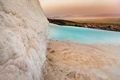 Travertine hills in Hierapolis near Pamukkale, Turkey Stock Images