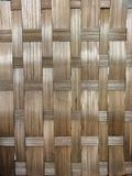 Natural basket weave background. A light and medium brown Kane material woven basket weave pattern. Earthtone shades and weaving of high-quality handcrafts and Royalty Free Stock Photo