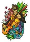 Natural bass player Stock Images