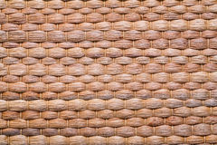 Natural bast wickered texture of mat Royalty Free Stock Photography