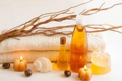 Natural Bath Accessories Stock Image