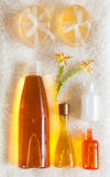 Natural Bath Accessories Royalty Free Stock Photography