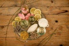 Natural bath cosmetics assorment Stock Photos