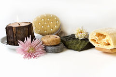 Natural bath products Stock Photo