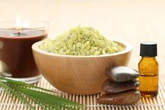Natural bath salt Stock Images
