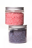 Natural bath salt in a boxes Royalty Free Stock Image