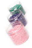 Natural bath salt in a boxes Royalty Free Stock Photography