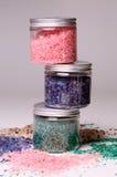 Natural bath salt in a boxes Stock Photos