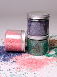 Natural bath salt in a boxes Stock Photo
