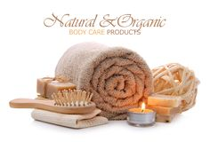 Natural bath, sauna and body care products Stock Photography