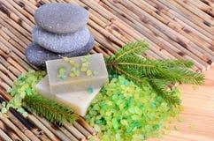 Natural bath treatment Stock Photos