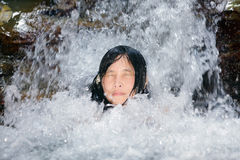 Natural bathing Stock Images