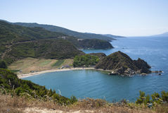 Natural beach Stock Image