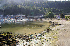 Natural Beach Harbour. Near Vancouver, BC, Canada Royalty Free Stock Images