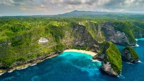 Natural beach pool in Bali stock image