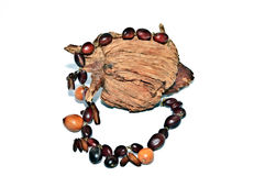 Natural Bead Necklace stock photo
