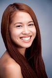 Natural beautiful asian girl smiling portrait Royalty Free Stock Image
